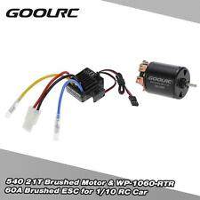 540 21T 4 Poles Motor and WP-1060-RTR 60A Waterproof Brushed ESC For RC Car Q4J3