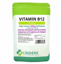 VITAMIN B12 - 1000mcg high potency ***100 Sublingual Tablets*** 1-a-day;