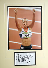 JESSICA ENNIS - BRITISH OLYMPIC GOLD MEDALLIST - STUNNING SIGNED PHOTO DISPLAY