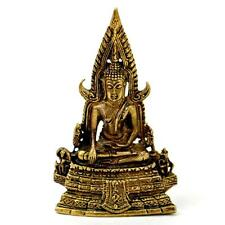 "TINY BRONZE BUDDHA STATUE 1.5"" Small Miniature Taliman Buddhist Amulet NEW Charm"