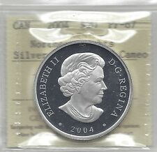 **2004**ICCS Graded Canadian Silver $20 **PF-67 UHC**Northern Lights Dbl Holo