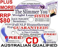 WEIGHTLOSS CLINICAL HYPNOTHERAPY PACK OF SLIMMER YOU© WEIGHT LOSS HYPNOSIS CD PK