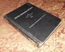 Aircraft Maintenance and Repair Northrop Aeronautical Institute 1949 1st ed HC