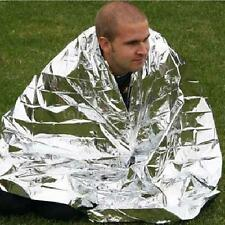 Emergency Solar Blanket Survival Safety Insulating Mylar Thermal Heat Hot PW4Y