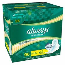 Always Ultra Thin Regular Pads with Wings (96 ct.) Free Shipping NEW