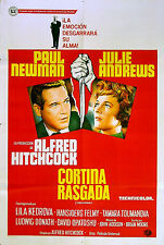 TORN CURTAIN 1966 Alfred Hitchcock, Paul Newman ARGENTINE POSTER & LOBBY CARD