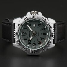 INFANTRY Mens Quartz Wrist Watch Night Vision Date Military Sport Army Leather