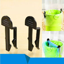 Hot 2pcs Home Office Garbage Can Waste Trash Bag Fixed Clip Holder Household CN