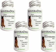 4 Resveratrol DOG HEALTH ~ Joint Heart Weight Vitamins Minerals Digestion Immune