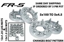 """Complete Set Scion 1"""" Wheel Spacers Conversion 5x100 To 5x4.5"""" Or (5x114.3 MM)"""