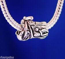 Motorcycle Bike Cycle Racing Hog Silver European Charm Bead fit for bracelet