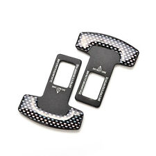 2X Car Auto Seat Belt Stop Alarm Eliminator Canceller Safety Insert Buckle Plug