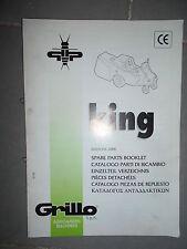 GRILLO tondeuse autoportée KING : catalogue pièces 2000