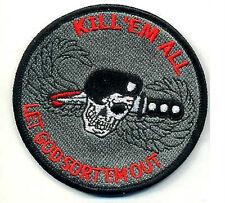 USMC FORCE RECON TALL GRASS SNIPER VELCRO PATCH: KILL 'EM LET GOD SORT 'EM OUT