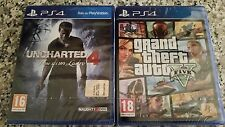 PS4 UNCHARTED 4 FINE DI UN LADRO NUOVO + GTA V NUOVO ORIGINALI