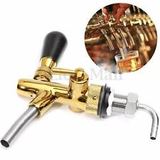 Adjustable Draft Beer Faucet G5/8 Shank w/ Chrome Gold Plating For Kegerator Tap