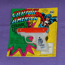 vintage Larami CAPTAIN AMERICA COSMIC RAY LIGHT GUN MOC (orange) rack toy