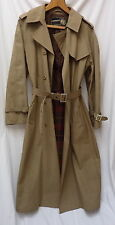 RARE genuine VINTAGE GANNEX Cool Groovy TRENCHCOAT W 12-14 movie-Style