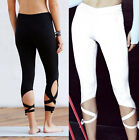 Women's Sports Gym Yoga Workout Cropped Leggings Fitness Lounge Athletic Pants