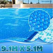 Swimming Pool Cover Blanket - 400 Micron Solar Outdoor - 9.1M x 5.1M