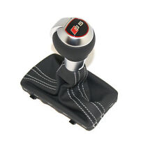 Audi A5 S5 S-tronic original shift gear knob S5 titanium gray with leather boot