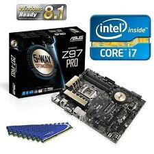 INTEL I7 4790K QUAD CORE CPU ASUS Z97 PRO ATX MOTHERBOARD 8GB DDR3 MEMORY COMBO