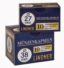 50 Lindner Münzkapseln Größe 27  z. B.  für 2 DM - Münzen - NEU -