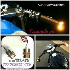 Avenger Cruiser Bike Handle Bar End Turn Signal Indicator Amber Light 360 Degree