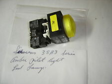 SIEMENS 3SB3 SERIES LED LAMP YELLOW LENS PILOT LIGHT