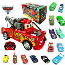 DISNEY PIXAR CARS MCQUEEN RC RADIO REMOTE CONTROL TOY + ACTION FIGURE FIGURINES