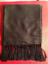 TOM FORD MENS $750 NWT BLACK SILK/CASHMERE SCARF 75 INCHES ITALY����