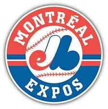 "Montreal Expos MLB Baseball Vinyl Car Bumper Window Sticker Decal 4.6""X4.6"""