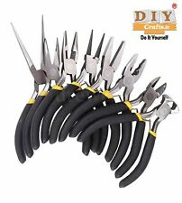 8Pcs Plier Set Jewellery Making Tools Round Beading Nose Pliers Wire Side Cuter