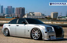 22x9 +13 22x10.5 +18 Rohana RC10 5x115 Silver Wheels FIt chrysler 300 2008 Rims