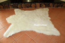 White Polar Bearskin Rug Accents Throw Area Rugs Lodge Cabin Accents C