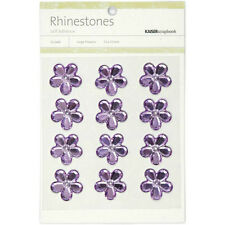 "**BRAND NEW** Kaiser Craft ""Lilac Flower Rhinestones"" 12 per Pack 387511"