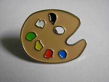 Artists palette pin badge. Water colours oil paints. Artist Limited stock