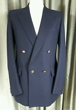 Blazer Double Breasted Gold Button by Centaur 40L EXC COND