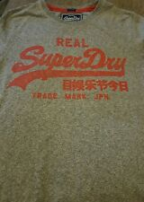 Womens Superdry Vintage Logo T-Shirt Grey red size small