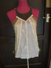 Amazing All Saints Jada Sequin Vest Top Size 12 VGC
