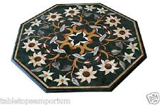 "20""x20"" Marble Coffee Table Top Marquetry Mosaic Style Inlay Art Furniture Decor"