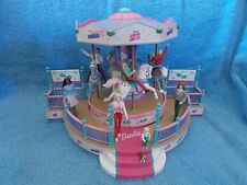 2001 * Barbie Doll * Holiday Go Round Carousel Mr Christmas Figurine Music Box