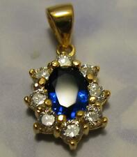 Pendentif Marquise Saphir Cz 13mm Plaqué Or 18K 5 Microns Dolly-Bijoux