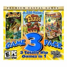 PC GAME -MUMBO JUMBO 3 GAME PACK - JUNGO - FARM - JEWEL QUEST -SHIPS FREE- $7.50