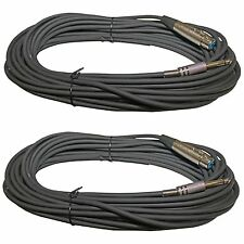 2 50 Ft XLR 3 Pin FEMALE to 1/4 inch MONO Headphone mic Cable AUDIO CORD 6.3MM