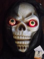 3' HALLOWEEN LIGHTED TALKING HANGING BIG REAPER SKULL HEAD DECORATION HOUSE PROP