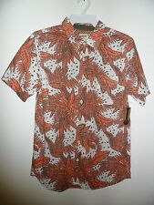 "Oneill Men's S/S Button-Up Shirt ""Galapagos"" STN - Size Small - NWT - Reg $80"