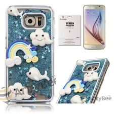 Samsung Galaxy S6 Handmade Crystal Bling Liquid Design Cute Protective Case