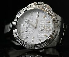 Marc Ecko Mens The Blade Silver Multifunction Stainless Steel Watch M16533G1 NEW