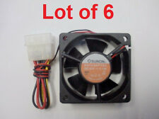 NEW! SUNON 60mm 4 Pin Molex  Case Cooling fan (KD1206PTS3) Lot of 6